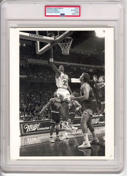 Early 90's – Scottie Pippen Crystal Clear Bulls TYPE 1 Original Photo PSA/DNA