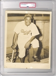 1947 Jackie Robinson Original Type I Photo Used For His 1948 Old Gold Cigarettes Card PSA/DNA