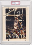 1989 Michael Jordan Dominates Denver's Danny Schayes Original Type 1 Photo PSA/DNA