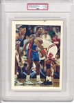 1989 Michael Jordan vs. Dennis Rodman Joe Dumars Original Type 1 Photo PSA/DNA