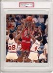 1988 Michael Jordan vs. Dominates Pistons NBA Playoffs Original Type 1 Photo PSA/DNA