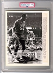 1980 Rookie Larry Bird Knocked Down by Daryl Dawkins NBA Semi-Finals TYPE 1 Original Proof Photo PSA/DNA