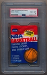 1986 Fleer Basketball Wax Pack w/ Olajuwon Sticker Back PSA 8 NM-MT
