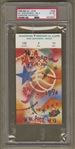 1996 NBA ALL-STAR Game Saturday Ticket Stub – Slam Dunk & 3 PT contest PSA 6 Highest Graded