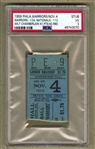 Wilt Chamberlain 3rd Career NBA Game Warriors vs Syracuse Nats NBA Rookie Ticket Stub PSA Pop 1
