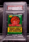 1987 Fleer Basketball Unopened Wax Pack Jordan 2nd Year? PSA 8 NM-MT
