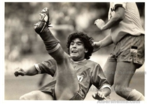 Diego Maradona Oversized TYPE I Original Photo at Wembley Stadium in 1987