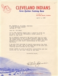 Tris Speaker Typed Letter Signed Autographed with All-Star Game Content Baseball HOF D.1958